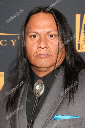 Arthur Redcloud arrives at the Fox 88th Academy Awards after party, at the Hollywood Athletic Club in Los Angeles