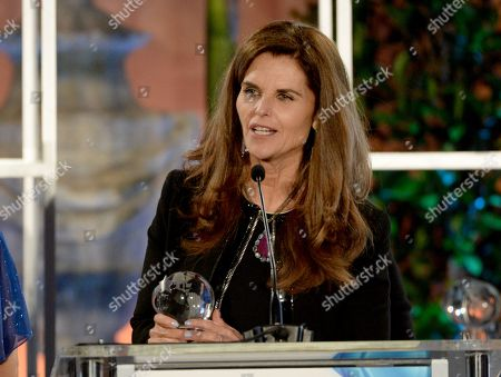 """Stock Image of Maria Shriver accepts a Television Academy Honors award for """"Paycheck to Paycheck: The Life and Times of Katrina Gilbert"""" at the 8th annual Television Academy Honors at the Montage hotel, in Beverly Hills, Calif"""