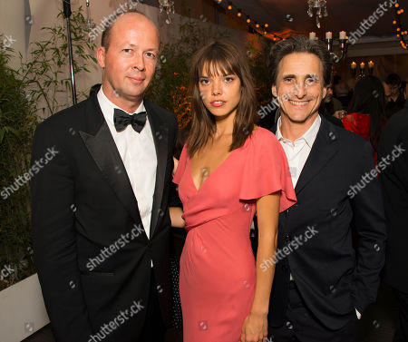 Nicolas Chartier, Eva Doll and Lawrence Bender seen during the after party for the film A Tale of Love and Darkness at the 68th international film festival, Cannes, southern France