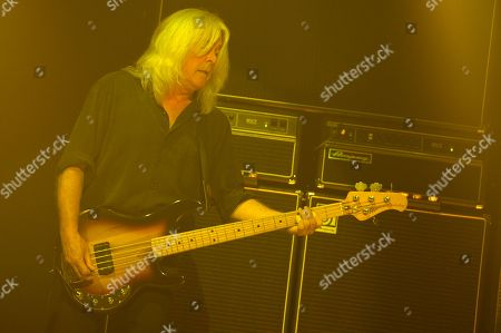 Cliff Williams of AC DC performs during the Rock or Bust Tour 2016 at the BB&T Center on in Sunrise, Fla
