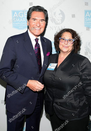 Stock Photo of Ernie Anastos and Ruth Finkelstein are seen at the NYAM Age Smart Awards funded by the Alfred P. Sloan Foundation, on in New York
