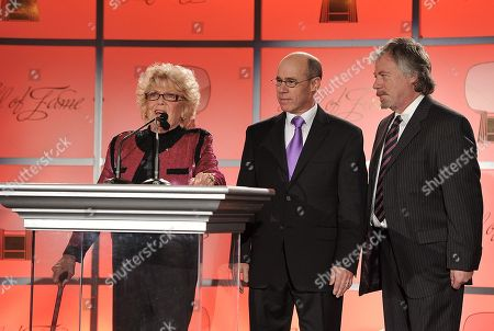 MARCH 1: (L-R) Doris Singleton, Barry Livingston and Stan Livingston onstage at the Academy of Television Arts & Sciences 21st Annual Hall of Fame Ceremony at the Beverly Hills Hotel on in Beverly Hills, California