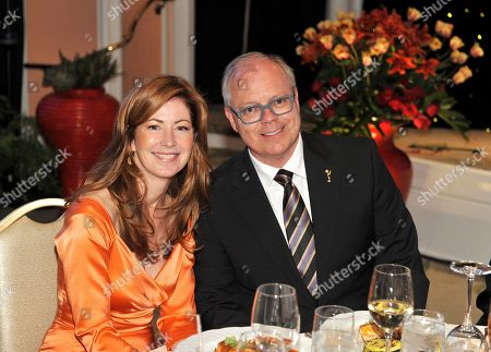 "MAY 5: Actress Dana DeLaney (L) and ATAS Chairman and CEO John Shaffner in the audience at the Academy Of Television Arts & Sciences Presents ""The 4th Annual Television Academy Honors"" at the Beverly Hills Hotel, in Beverly Hills, California"