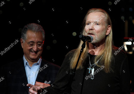 President of BMI Del Bryant and Gregg Allman at All My Friends: Celebrating The Songs and Voice of Gregg Allman on in Atlanta, Ga
