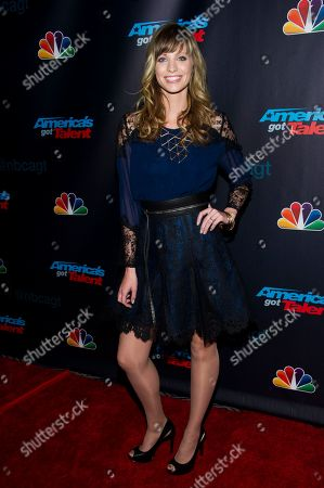 """Stock Photo of Singer Cami Bradley walks the pre-show red carpet for """"America's Got Talent"""" on in New York"""