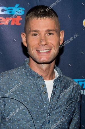 """Singer Jimmy Rose walks the pre-show red carpet for """"America's Got Talent"""" on in New York"""