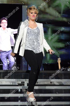 AUGUST 03: Erika Van Pelt performs during American Idols Live at BankAtlantic Center on in Sunrise, Florida
