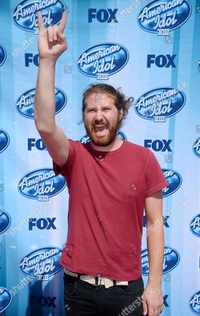 Stock Image of Casey Abrams arrives at the American Idol XIII finale at the Nokia Theatre at L.A. Live, in Los Angeles