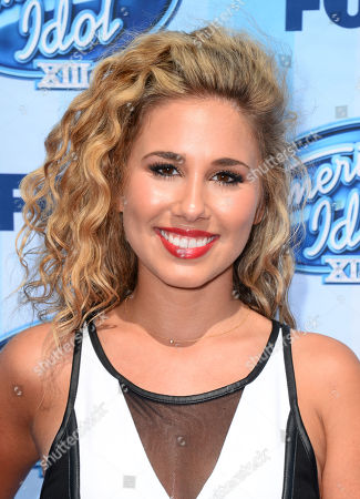 Haley Reinhart arrives at the American Idol XIII finale at the Nokia Theatre at L.A. Live, in Los Angeles