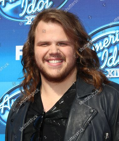 Caleb Johnson arrives at the American Idol XIV finale at the Dolby Theatre, in Los Angeles