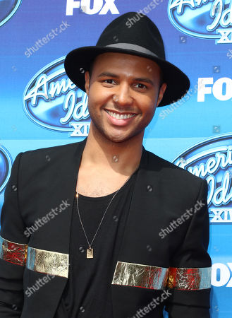 Rayvon Owen arrives at the American Idol XIV finale at the Dolby Theatre, in Los Angeles