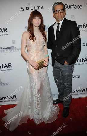 Carly Rae Jepsen and Kenneth Cole attend the amfAR Inspiration Gala at the The Plaza Hotel on in New York