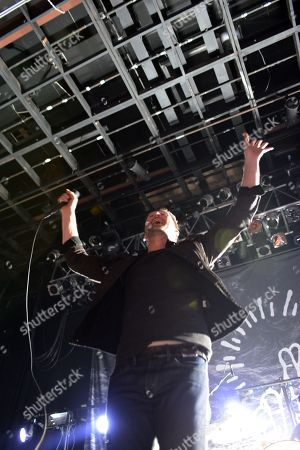 Stock Picture of Stephen Christian of Anberlin Performs, at Center Stage Theater, in Atlanta