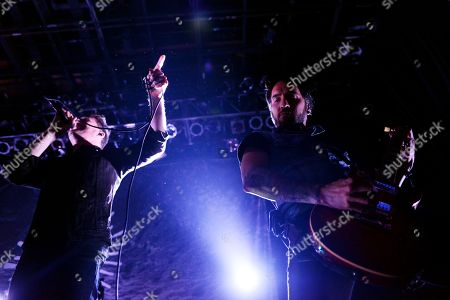 Stephen Christian and Christian McAlhaney of Anberlin Performs, at Center Stage Theater, in Atlanta