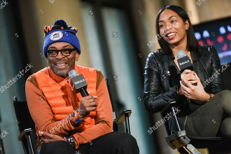 """Filmmaker Spike Lee and actress Zaraah Abrahams participate in AOL's BUILD Speaker Series to discuss their new film """"Da Sweet Blood of Jesus""""? at AOL Studios, in New York"""