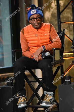 """Stock Photo of Filmmaker Spike Lee participates in AOL's BUILD Speaker Series to discuss his new film """"Da Sweet Blood of Jesus""""? at AOL Studios, in New York"""