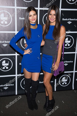 Victoria Justice, left, and Madison Justice attend the Baby Buggy Gala at the Beacon Hotel, in New York