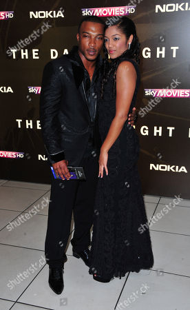 Ashley Walters, Natalie Williams arrives at the Batman - The Dark Knight Rises European Premiere at Odeon Leicester Square on in London