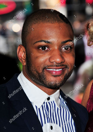 Stock Photo of Jonathan Benjamin Gill, JB of JLS arrives at the Batman - The Dark Knight Rises European Premiere at Odeon Leicester Square on in London