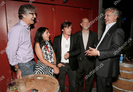 Stock Photo of Tod, Elli Hakami, Richard Hammond, BBC America General Manager Perry Simon and BBC America America President Herb Scannell attend the BBC America TCA Party at Cafe La Boheme on in Los Angeles, California