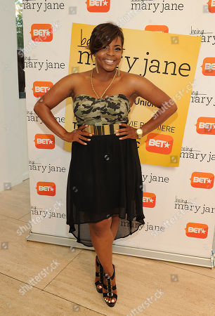 Brely Evans attends the Los Angeles screening of BET's Being Mary Jane at the Paley Center for Media, on in Beverly Hills, California