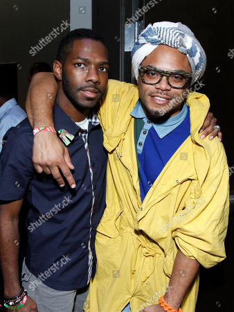 Robert Hardy and Hip Hop artist Kodak Boi at the BET Music Matters party prior to the BET Hip Hop Awards at the 12th Hotel, in Atlanta, Ga. Several awards nominees, artists and music industry vets were on hand to celebrate the Music Matters initiative to promote emerging new artists