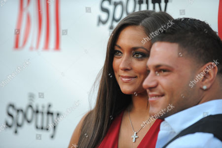 Samantha Giancola and Ronnie Ortiz-Magro arrive at the BMI Urban Awards on in Beverly Hills, Calif
