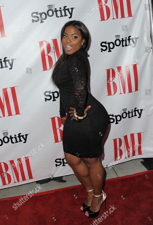 Brely Evans arrives at the BMI Urban Awards on in Beverly Hills, Calif