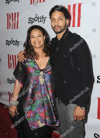 Stock Picture of Debbie Allen and son Norman Nixon Jr. arrive at the BMI Urban Awards on in Beverly Hills, Calif