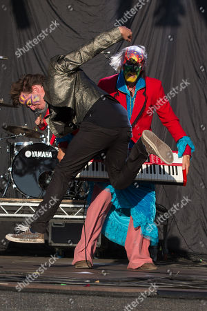 Arthur Brown of the Crazy World of Arthur Brown performs at Camp Bestival 2015 at Lulworth Castle, in Dorset, England. Thousands are to attend to see headliners Clean Bandit, Kaiser Chiefs and Underworld