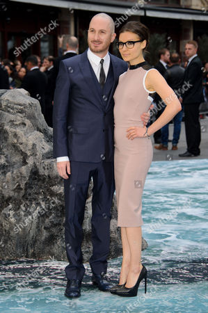 Darren Aronofsky and Brandi-Ann Milbradt arrive for the UK Premiere of Noah at a central London cinema, London