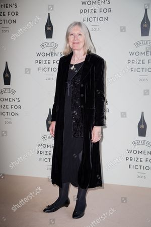 Helen Dunmore poses for photographers upon arrival at the Bailey Women's Prize for Fiction Awards Ceremony in London
