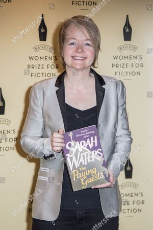 Shortlisted novelist for the Bailey Women's Prize for Fiction Award, Sarah Waters, for her book The Paying Guests poses for photographers during a photo call before the Bailey Women's Prize for Fiction Awards Ceremony in London