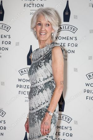 Joanna Trollope poses for photographers upon arrival at the Baileys Womenâ?™s Prize for Fiction Awards Ceremony in London