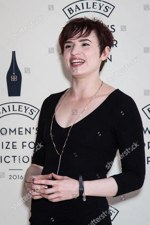 Stock Image of Laurie Penny poses for photographers upon arrival at the Baileys Women's Prize for Fiction Awards Ceremony in London