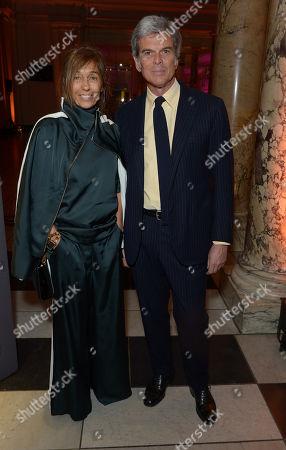 Consuelo Castiglioni (L) and Gianni Castiglioni attend a private dinner celebrating the Victoria and Albert Museum's new exhibition 'The Glamour Of Italian Fashion 1945 - 2014' at Victoria and Albert Museum on Tuesday, April. 1st, 2014