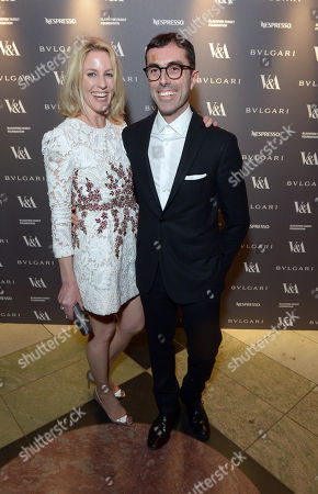 Sydney Ingle-Finch, Giambattista Valli attend a private dinner celebrating the Victoria and Albert Museum's new exhibition 'The Glamour Of Italian Fashion 1945 - 2014' at Victoria and Albert Museum on Tuesday, April. 1st, 2014