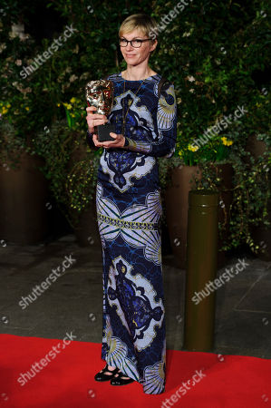 Evelyne Noraz arrives for the British Academy Film Awards 2014 After Party at the Grosvenor Hotel, in central London