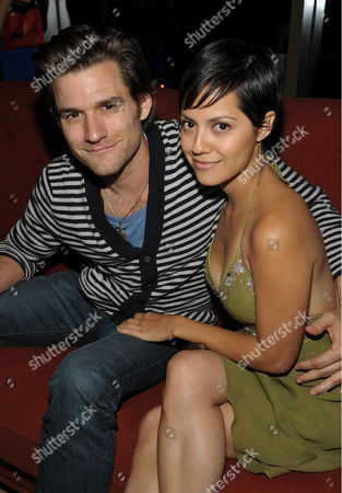Johnny Whitworth, left, and Sylvia Brindis attend Carbon Audio's Zooka launch party, in West Hollywood, Calif