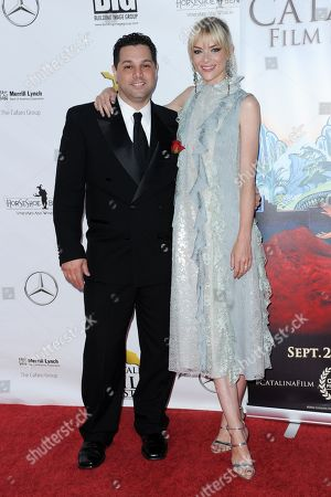 Ron Truppa, left, and Jaime King attend the 2016 Catalina Film Festival, in Avalon, Calif