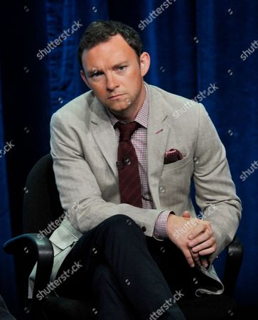 """Nate Corddry participates in the """"Mom"""" panel at the CBS Summer TCA, at the Beverly Hilton hotel in Beverly Hills, Calif"""