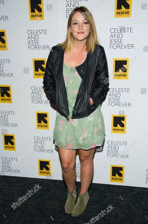 "Stock Picture of Abby Elliot attends the ""Celeste and Jesse Forever"" premiere on in New York"