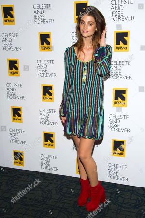 """Charlbi Dean Kriek attends the """"Celeste and Jesse Forever"""" premiere on in New York"""