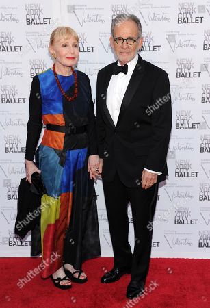 Ron Rifkin and wife arrive at the New York City Ballet Fall Gala honoring fashion designer Valentino Garavani at Lincoln Center on in New York. For this one night only Valentino will create costumes for three ballets