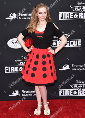 Darcy Rose Byrnes arrives at the premiere of Disney's Planes: Fire & Rescue sponsored by Coco Joy Kids at El Capitan, in Los Angeles