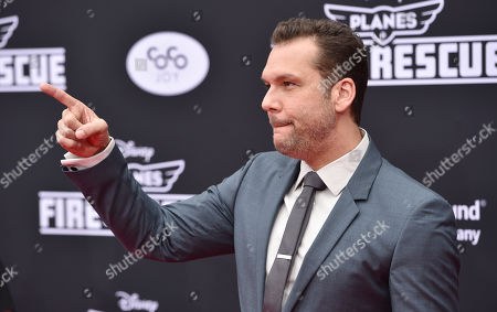 Dane Cook arrives at the premiere of Disney's Planes: Fire & Rescue sponsored by Coco Joy Kids at El Capitan, in Los Angeles