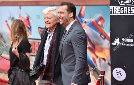 Hal Holbrook, left, and Dane Cook arrive at the premiere of Disneyâ?™s Planes: Fire & Rescue sponsored by Coco Joy Kids at El Capitan, in Los Angeles