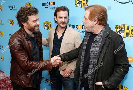 Rob Benedict, Richard Speight Jr. and Mark Hamill seen at the Lionsgate, Comic-Con HQ and Amazon Channels celebration for the new seasons of Con Man, Kings of Con and Mark Hamill's Pop Culture Quest at the Paley Center in Beverly Hills
