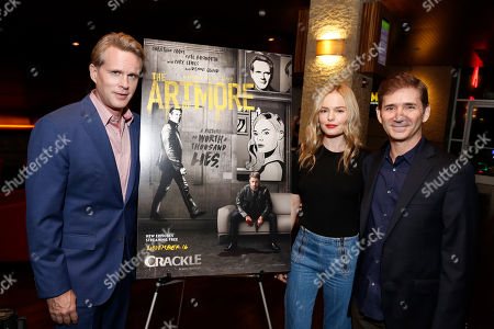 "Stock Picture of Cary Elwes, Kate Bosworth and Creator/Writer/Executive Producer Chuck Rose seen at Crackle's ""The Art of More"" SAG Screening at The Landmark, in Los Angeles"