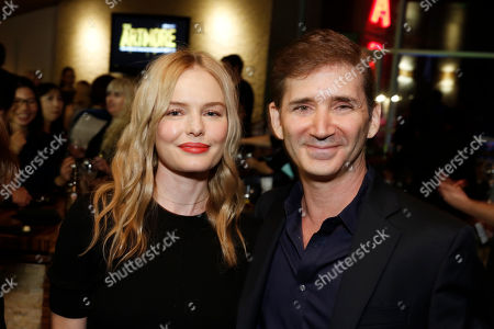 "Stock Image of Kate Bosworth and Creator/Writer/Executive Producer Chuck Rose seen at Crackle's ""The Art of More"" SAG Screening at The Landmark, in Los Angeles"